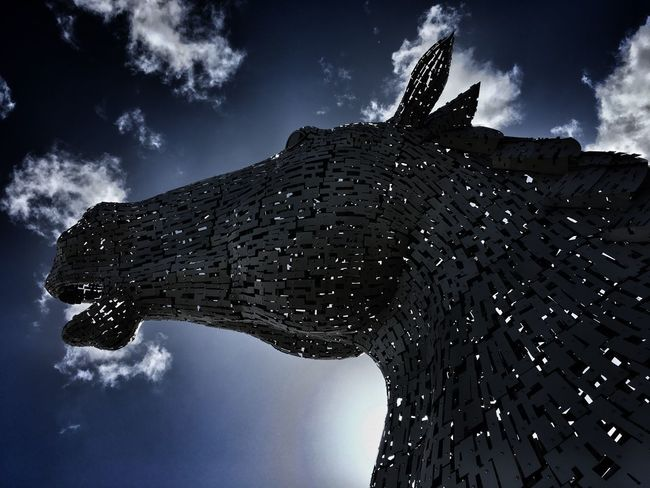Kelpies Of Falkirk Cloud - Sky Beauty In Nature Architecture in Falkirk near Edinburgh day out IPhoneography Iphoneonly Iphone6splus