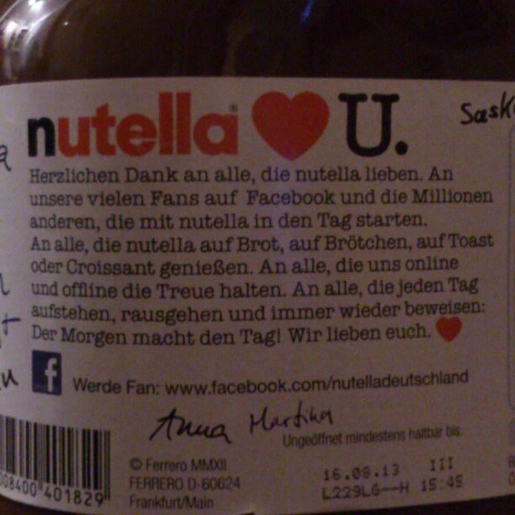 ... Weil Twitter, die Nutella Fanbase Nummer 1, unerwähnt bleibt. Gleich via Facebook anprangern. #nutella #Shitstorm Nutella Shitstorm
