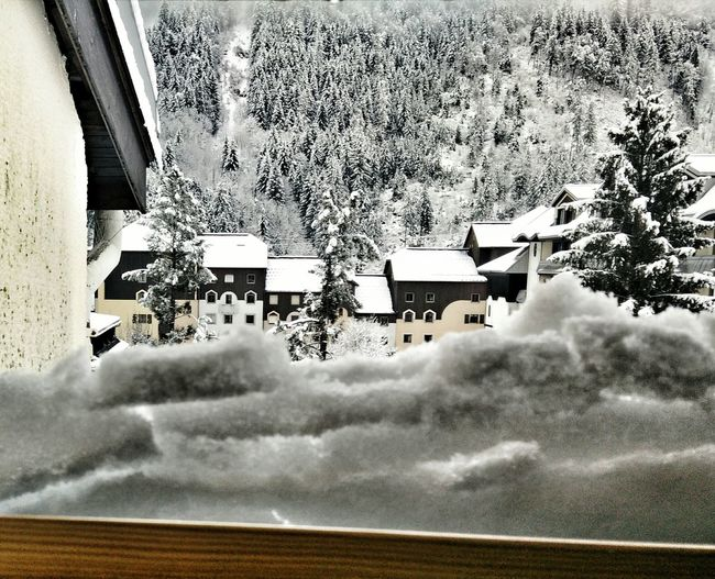 Snow ❄ Snowmaggedon Morning View Outdoors Day No People Window View Winter Wintertime Winter Wonderland Winterscapes Winter_collection Chamonix-Mont-Blanc Mont Blanc Massif Montblanc OnePlusOne📱 Oneplus One Oneplusonephotography Beauty In Nature Shotononeplus Lost In The Landscape Tranquility Building Exterior Architecture Tranquil Scene Shades Of Winter