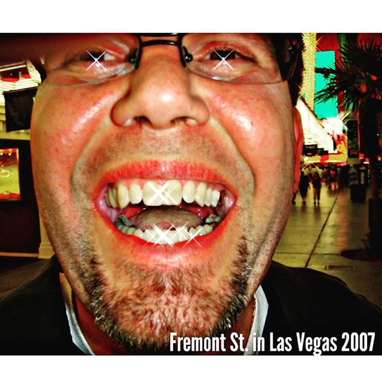 168 hrs. Till I'm back on FremontStreet in Lasvegas ....but who's counting?!? Goldenspookytooth ...no seriously....look on the right side in the back I got 1 golden tooth on the top & bottom....doesnt everybody?!? Noguts NoGlory NOLEGEND Nostory Mannersamust Goodlooksokgreat Humorohhellyeah Almostfamoustour73 Really Insane Whiskeymakesmefriskey Dreamon