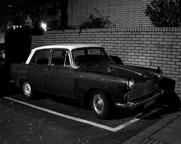 Morris Oxford, ENO 666D. Black And White Monochrome Manchester Morris Cars Vintage Cars MG Morris Oxford