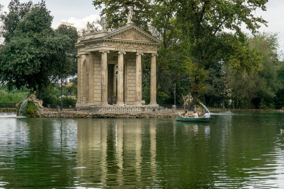 Architecture Building Exterior Built Structure Day History Italia Italien Italy Laghetto  Nature No People Outdoors Parco Park Pincio Rom Roma Rome Sky Travel Travel Destinations Tree Villa Borghese Villa Borghese Park Water
