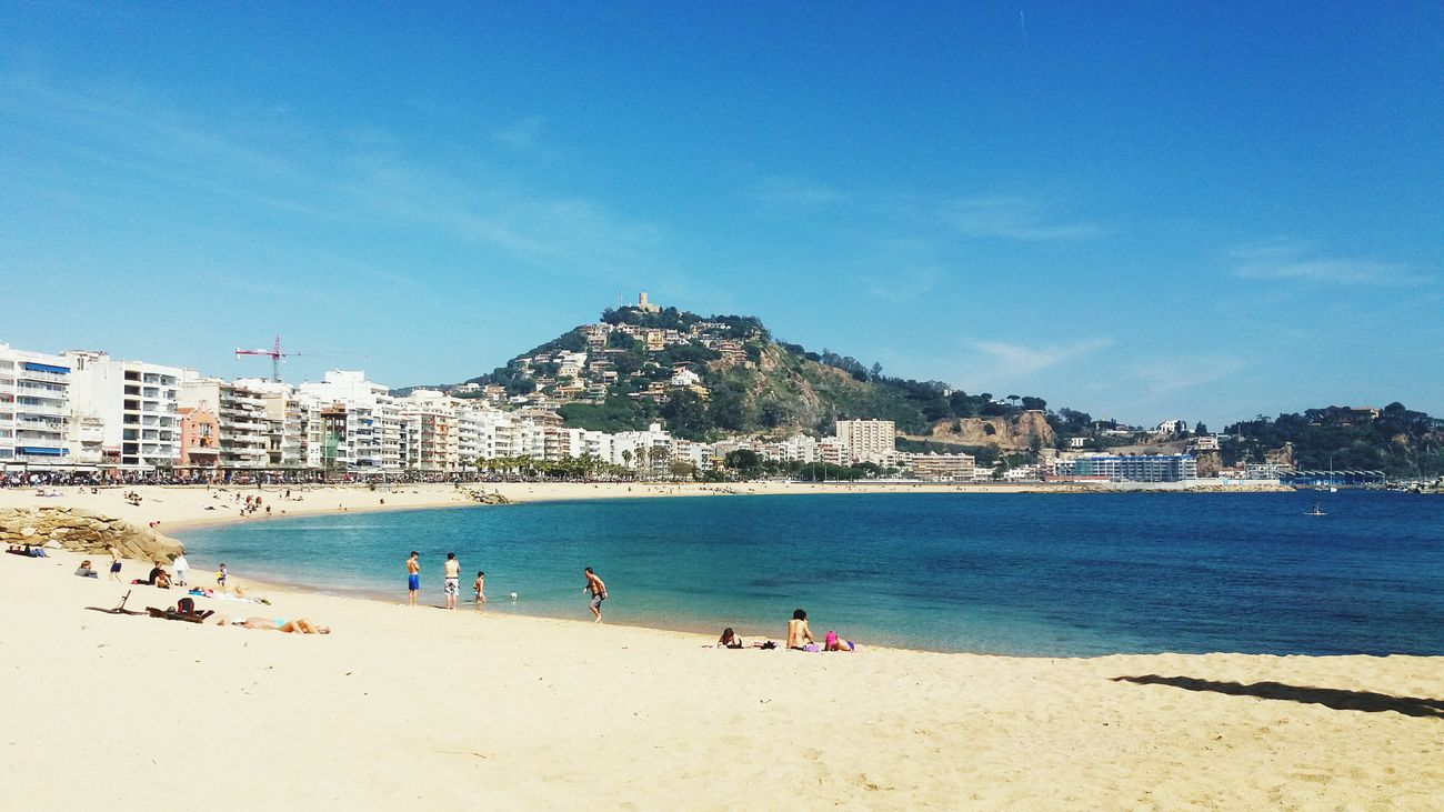Beach Sea People Clear Sky Lifestyles Blanesturismo Blanes Live For The Story