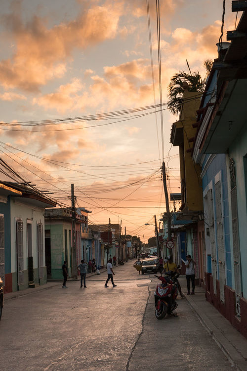 Streets of Trinidad Architecture Before Sunset Building Exterior Built Structure City Cloud - Sky Cuba Cuba Collection Day Outdoors People Sky Transportation Travel Destinations Travelling UNESCO World Heritage Site