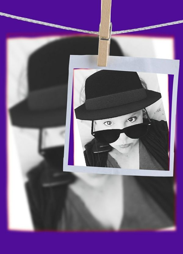 Portrait Of A Woman Sunglasses Pop Art Inspired Urbanphotography Black And White Black Hat