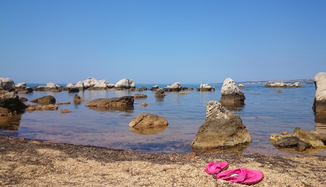Adriatic Adriatic Sea Beach Beauty In Nature Blue Clear Sky Croatia Day Idyllic Nature Outdoors Rock Formation Rocks Sea Shore Sky Summer Summertime Sunny Vacations Water