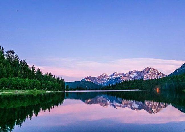@timpanogos reflection in silver Lake flats. Dreaming of spring. Timpstagram Reflection Silverlakeflats Utah Visitutah Dreamsofspring Sunset Bluehour