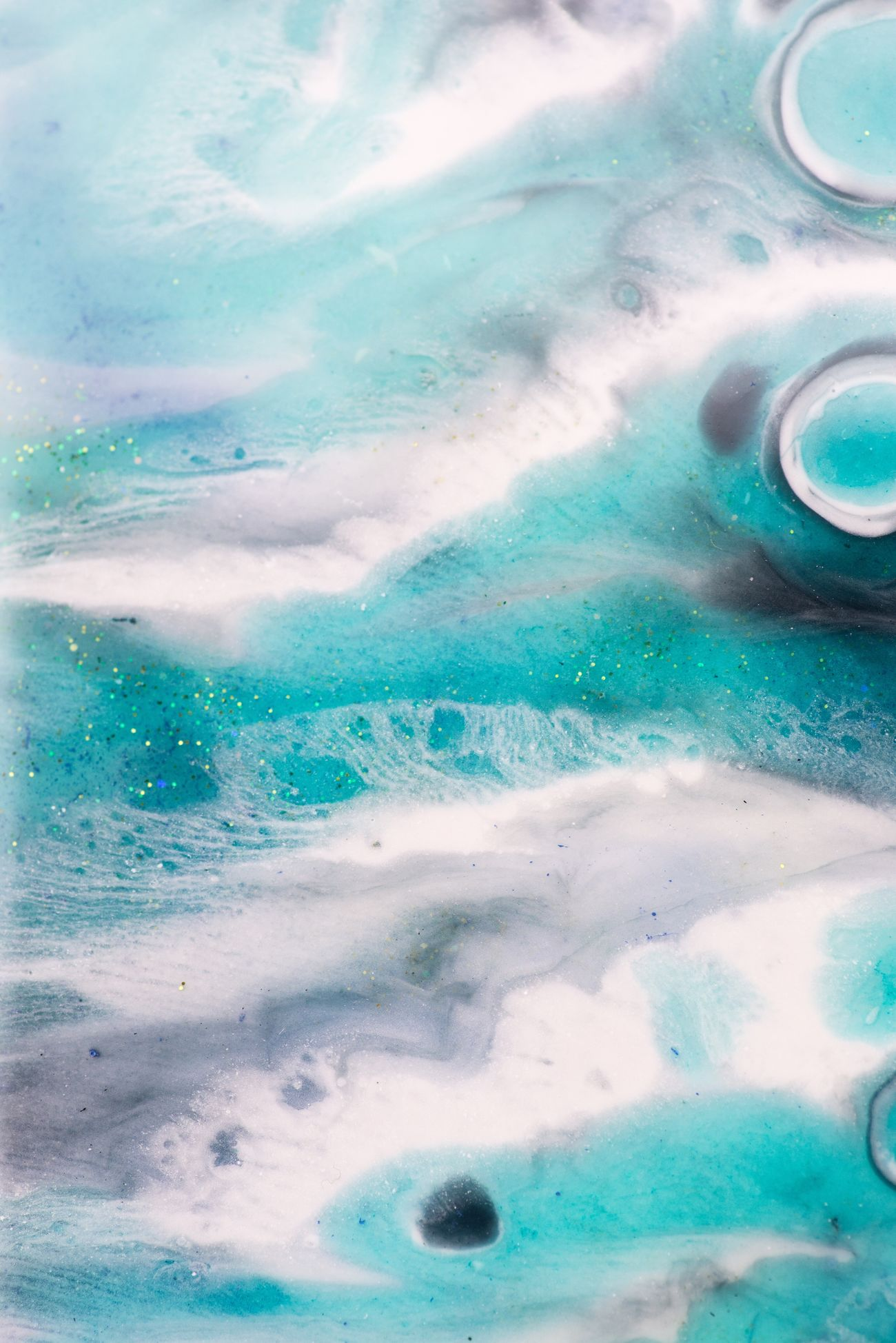 Color Palette Water Ocean Sea Aerial View Nature Resin Art Resin Painting Abstract Nature Inspired Tranquility Peace Beauty In Nature Purity Macro Details Artist