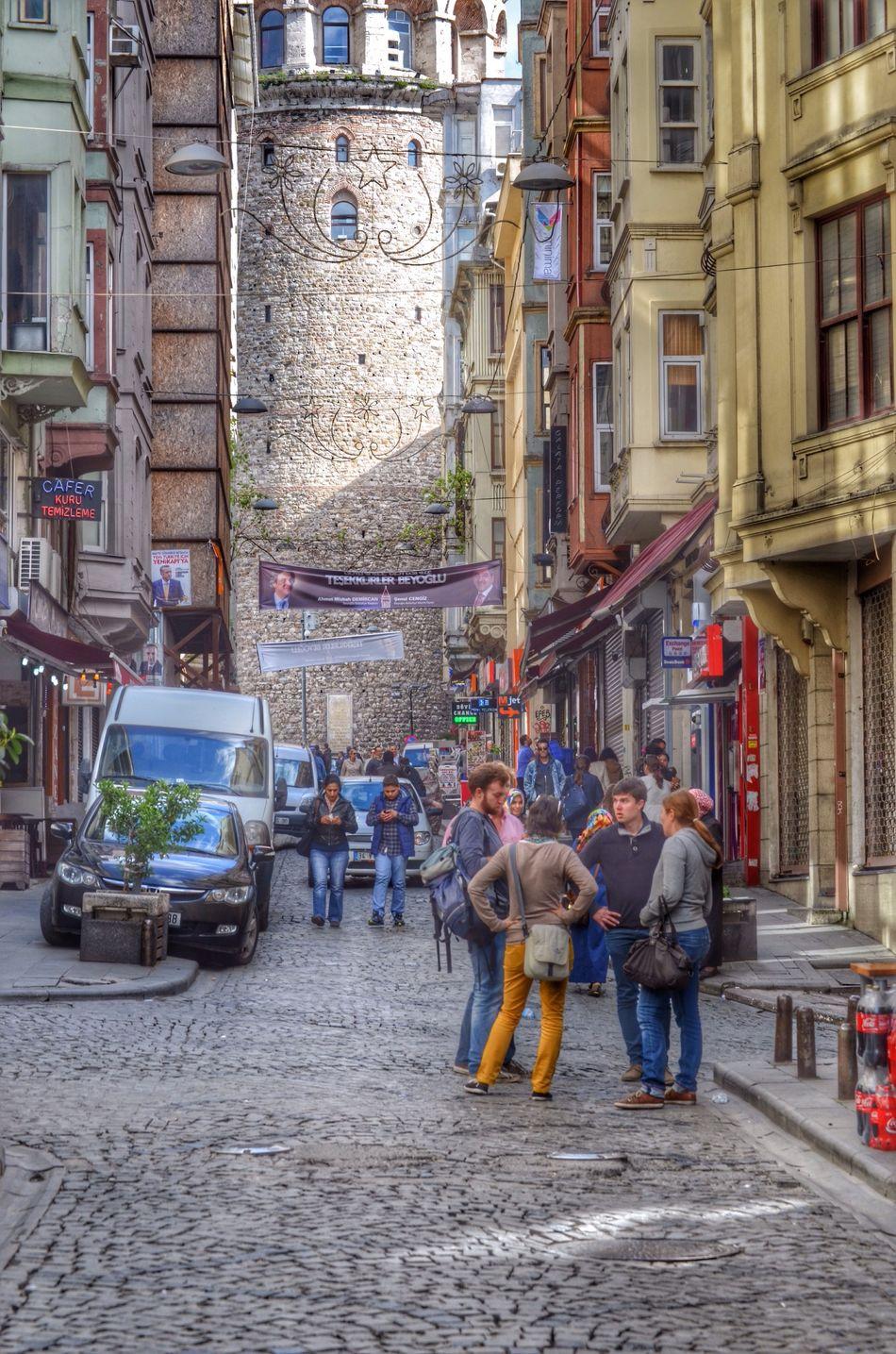 Crowd in Istanbul araund Galata Tower .... Günaydın! Good morning!! Hanging Out EyeEmBestPics HDR EyeEm Best Shots