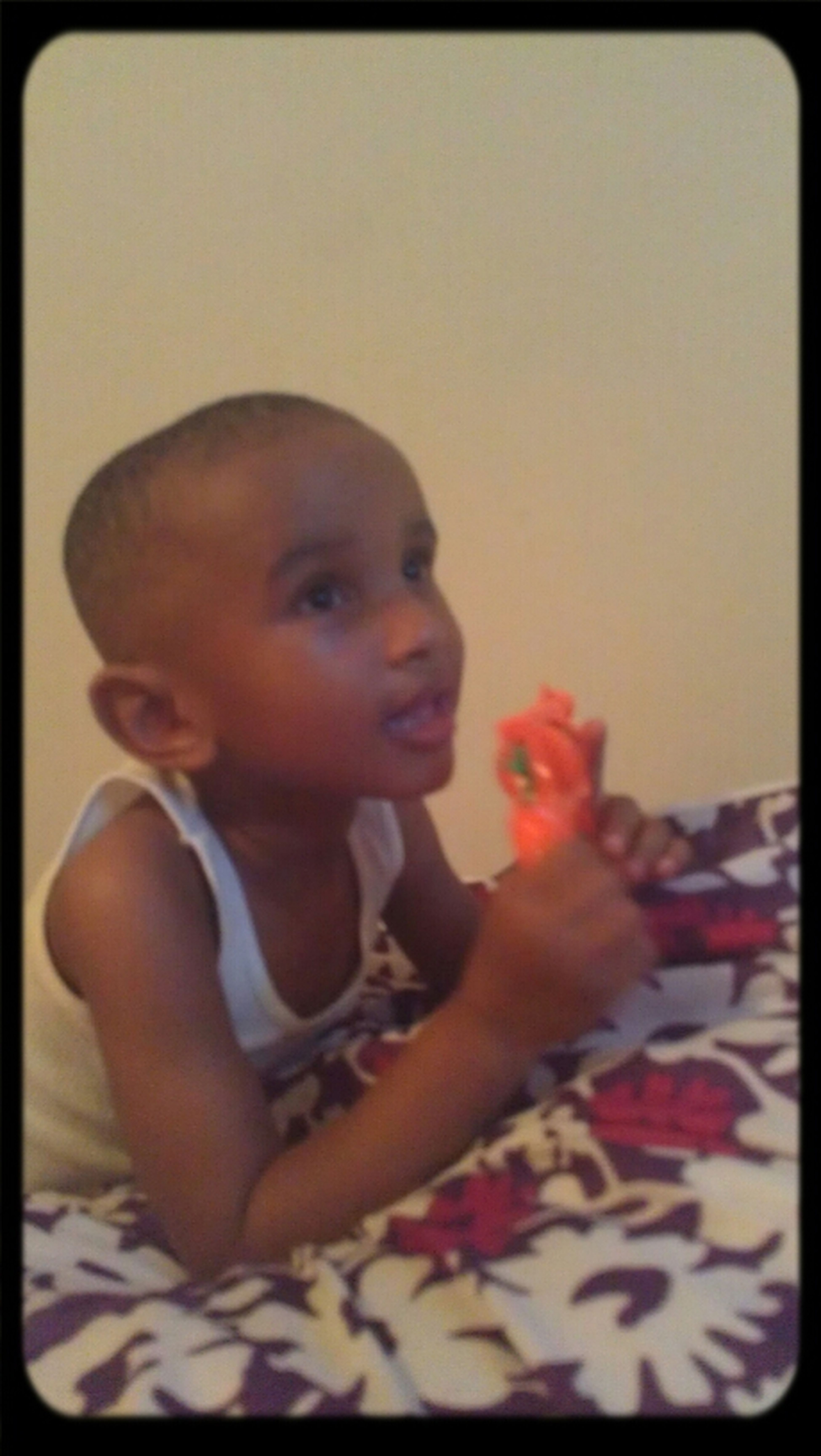 aww look at my lil brother, man he loves his Tv shows!!