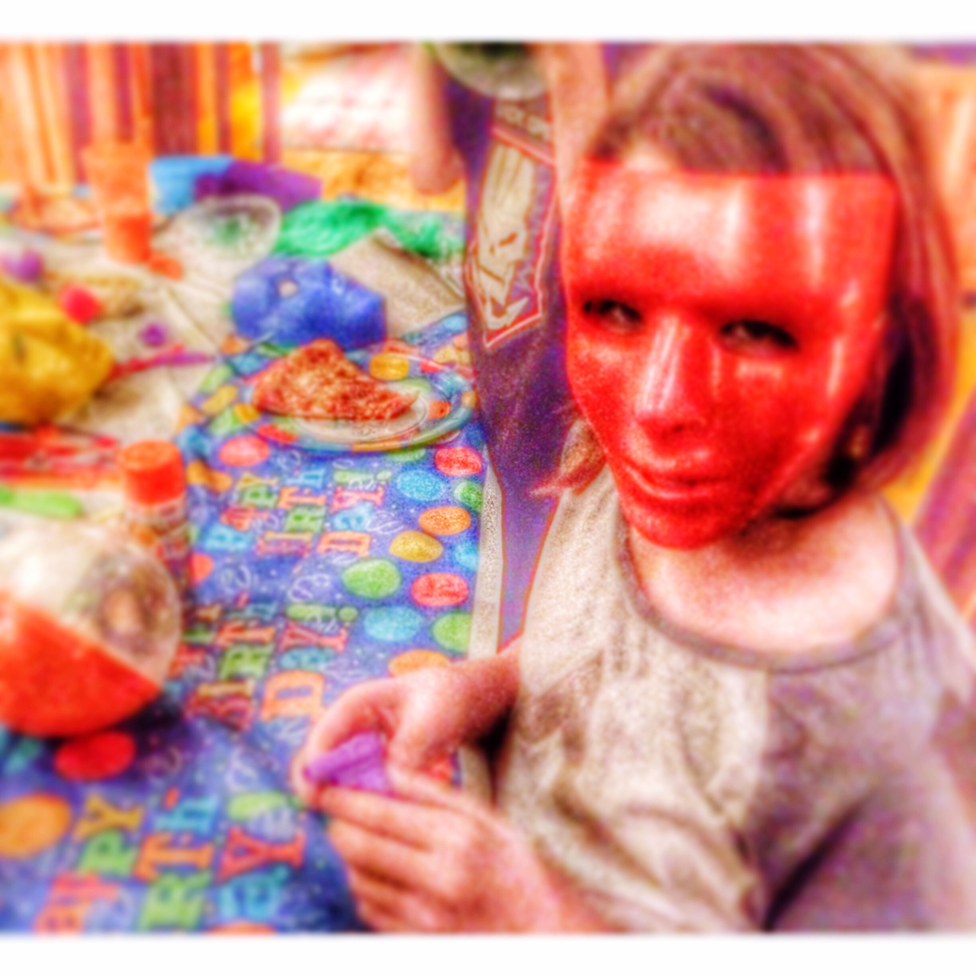 Birthday mask Multi Colored Celebration