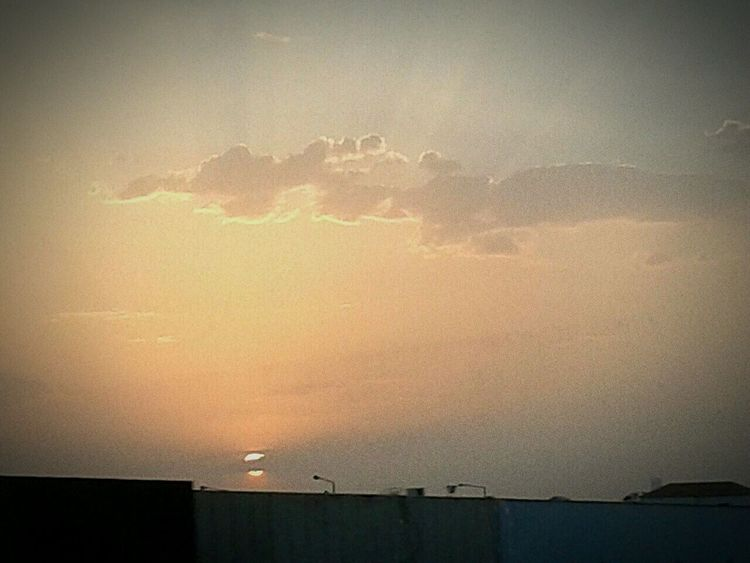 Hangingoutwithfamily Setting Sun Lovelyday💛 :D Takenfromcar Landscapes With WhiteWall