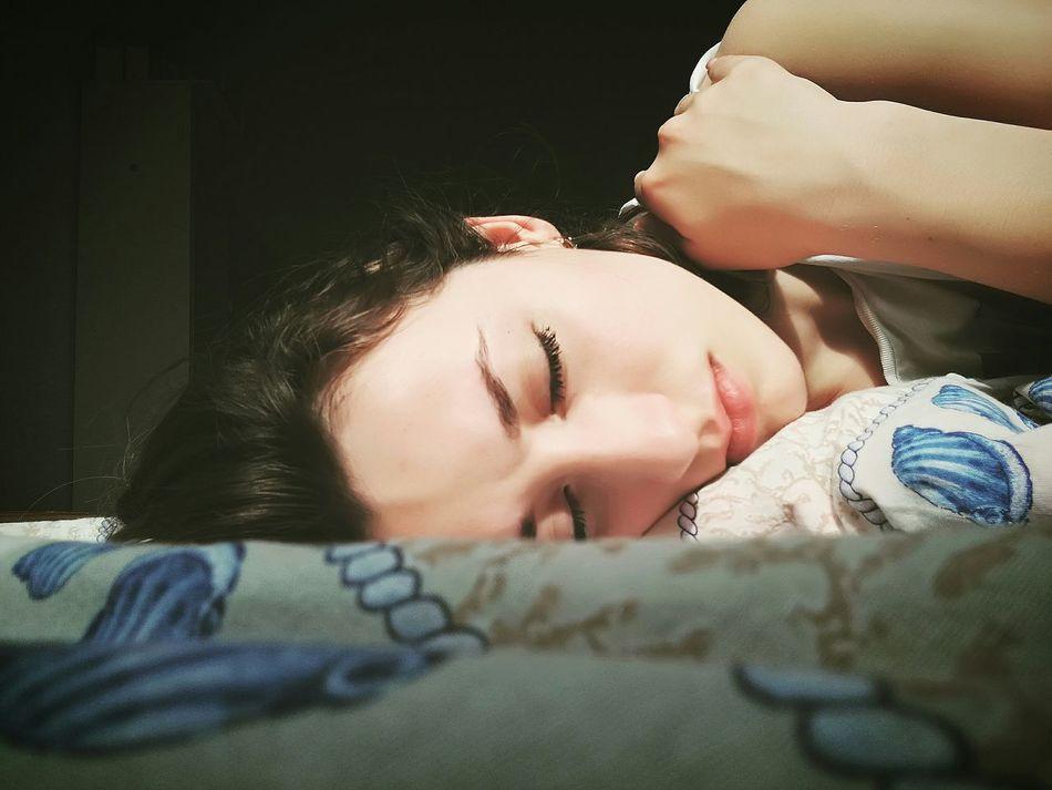 Sleeping Girl Dreaming Emotion NeedAHug