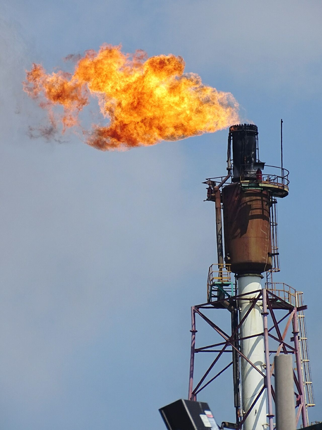 Business Finance And Industry Flame Sky Refueling Outdoors Refinery