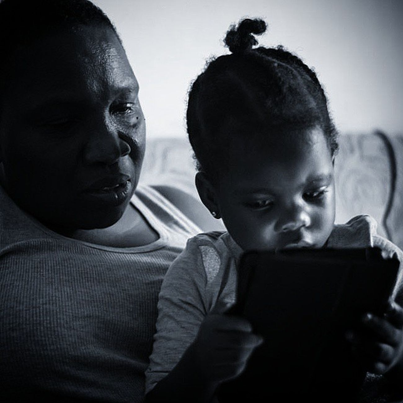 Kidsmood_bnw PureGrenada Peppapig Samsungtablet Daughterlove Instadaily Blackandwhite All_shots Portraiture