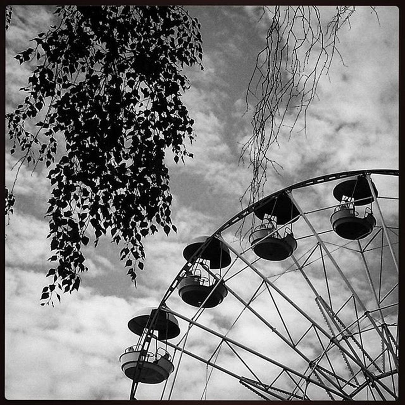 Ig_europe Ig_bw Ig_moscow Parque  Cielo Sky Loves_bnw Estaes_cielos Bw Bnw Blancoynegro Blackandwhite Москва Измайловскийпарк колесообозрения чернобелоефото Чб