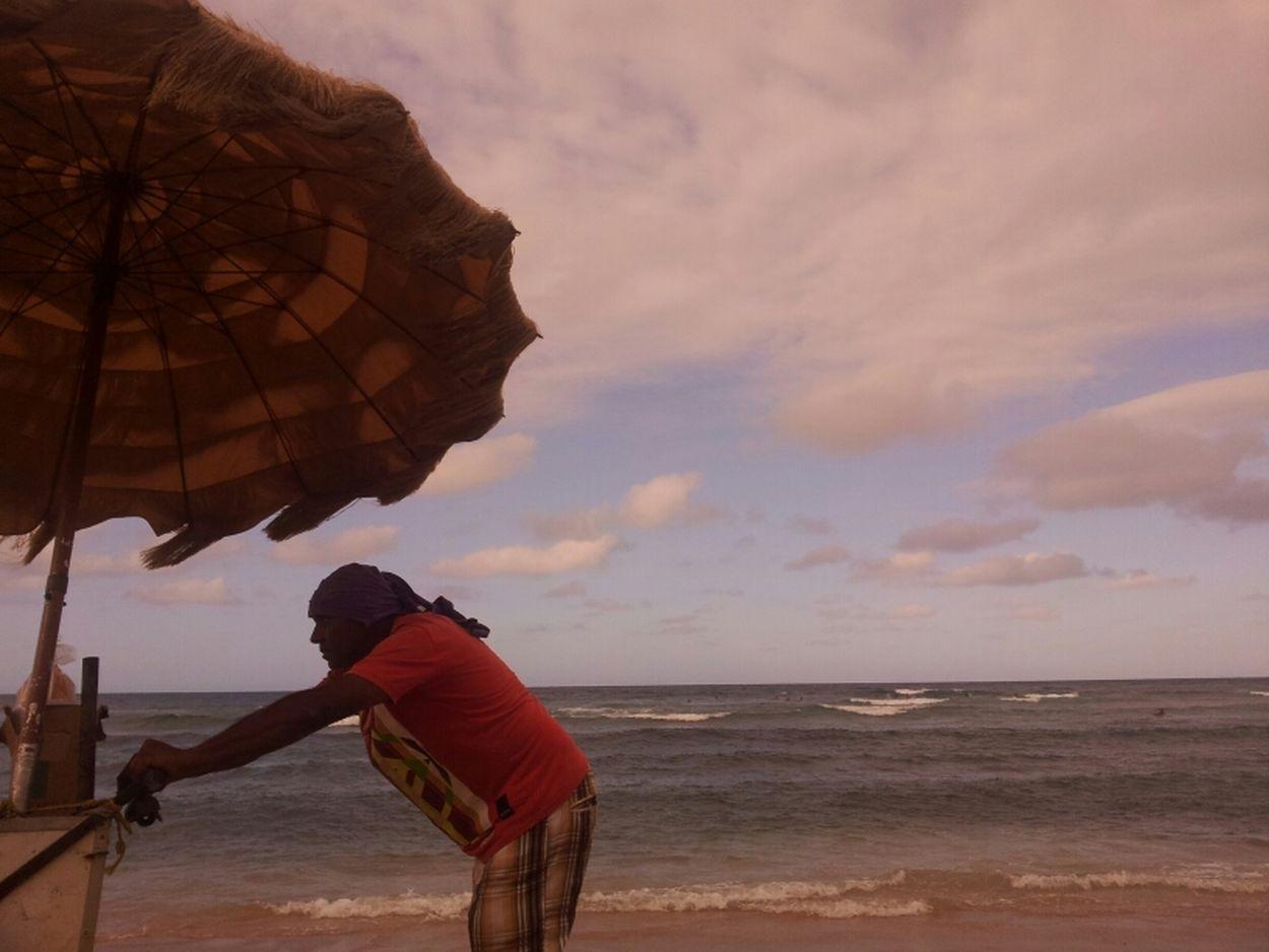 On The Beach Puerto Rico Icecream Man  Playa Jobos