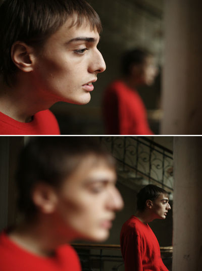 Profile Reflection Boy Color Colour Colour Of Life Georgian Georgian Boly Lashafox Male Model Portrait Tsertsvadze