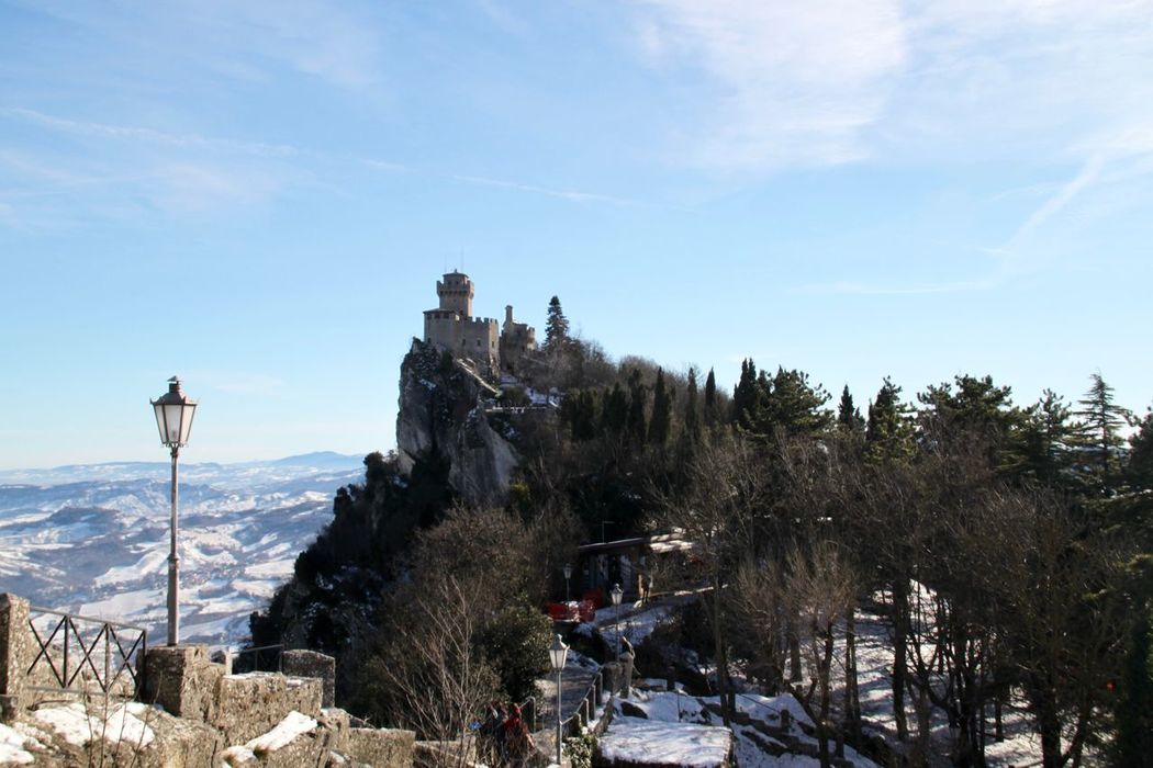 Architecture Beauty In Nature Building Exterior Built Structure Cold Temperature Day Europe Mountain Nature No People Outdoors San Marino Snow Winter Winter Wonderland Wintertime Monte Titano