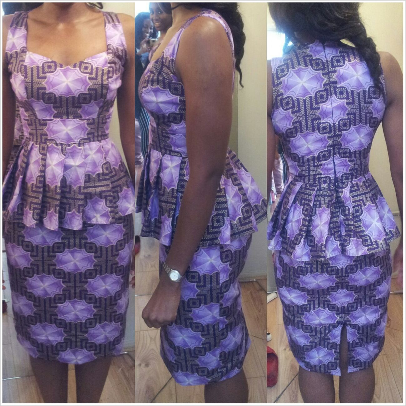 Fashion Peplum Dress I Made A Work African Print