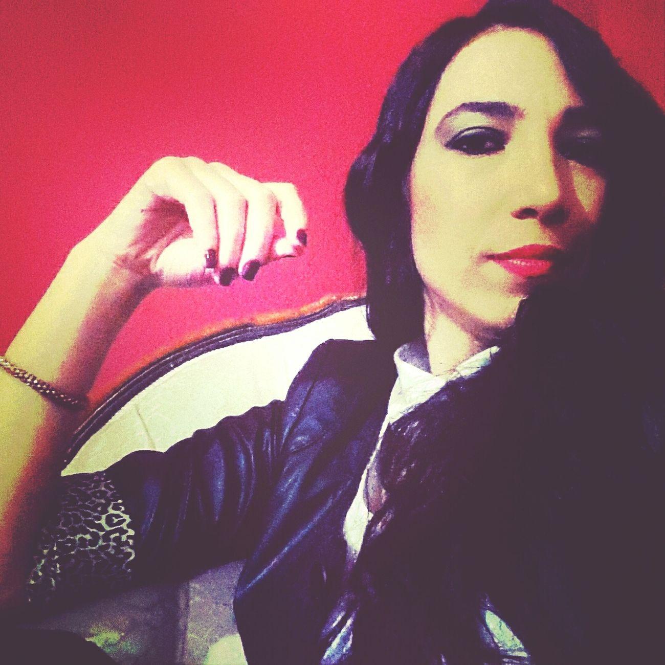 Red Black Selfie