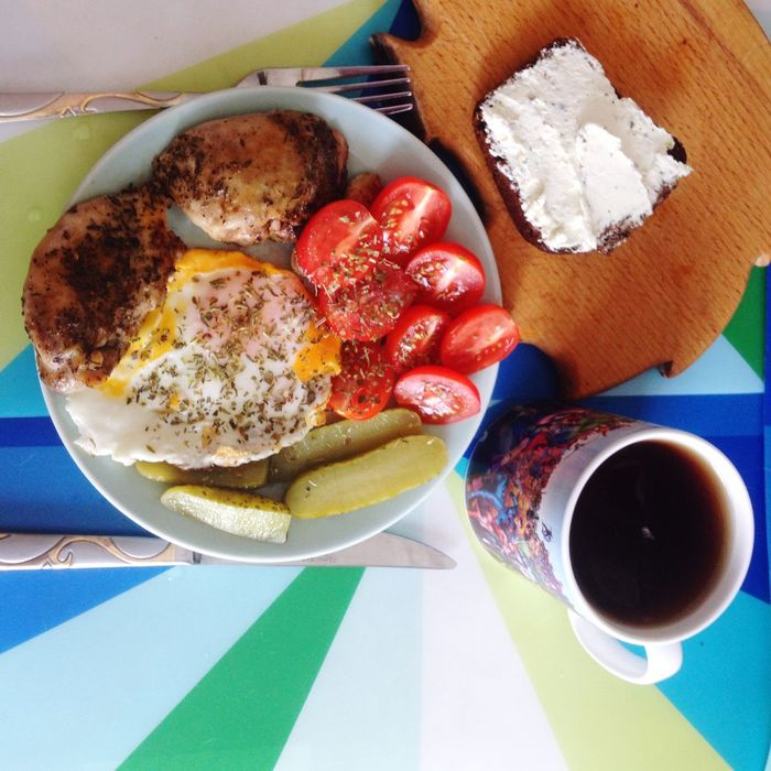 Easy but great breakfast! Good morning c: Morning Breakfast ♥