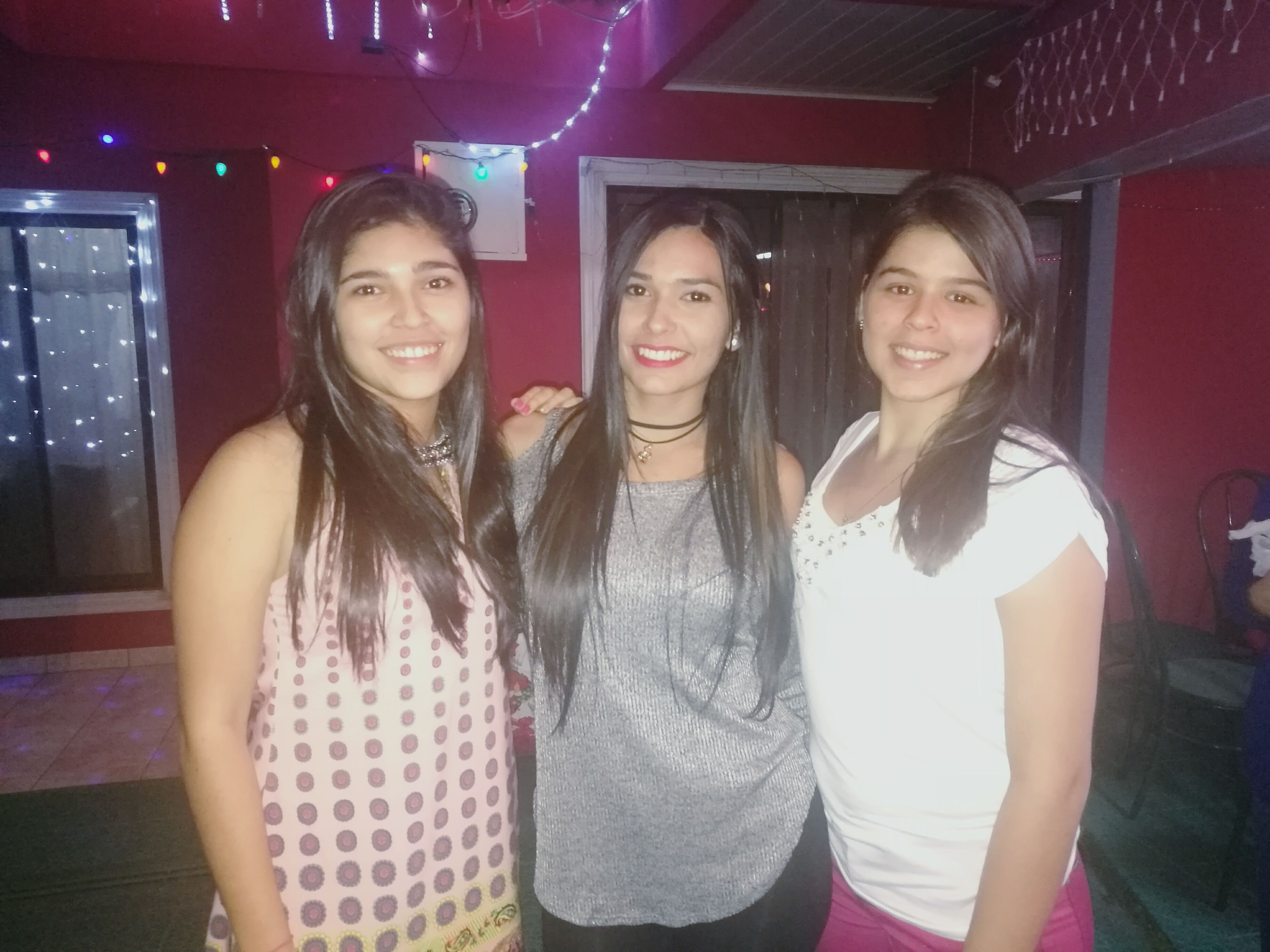 friendship, looking at camera, portrait, nightclub, fun, waist up, smiling, nightlife, enjoyment, party - social event, dancing, happiness, night, togetherness, front view, cheerful, indoors, group of people, people, only women, ladies' night, beautiful woman, adults only, happy hour, adult