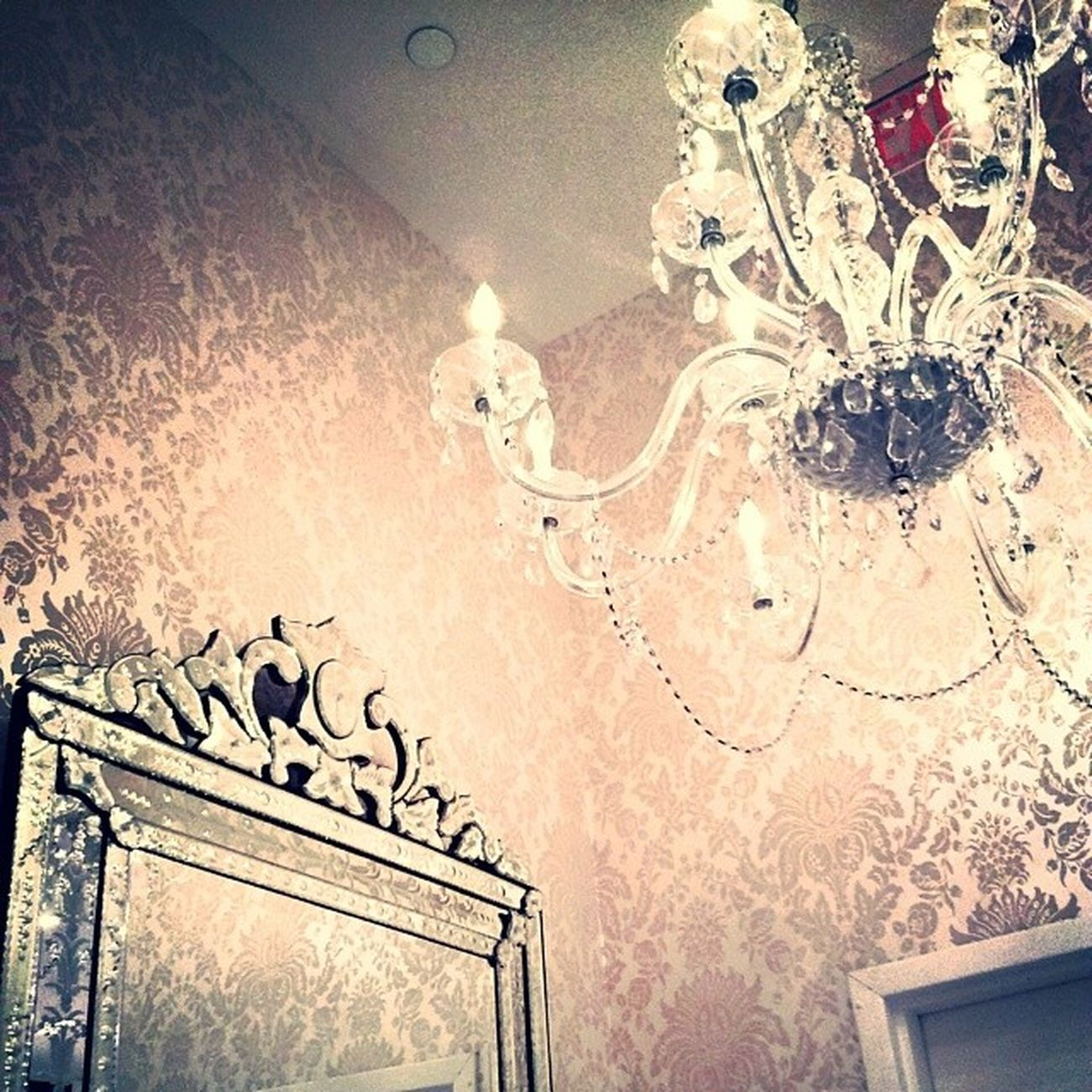 Prettiest changeroom i've ever seen. Guess Marciano Chandelier Mirror vintage