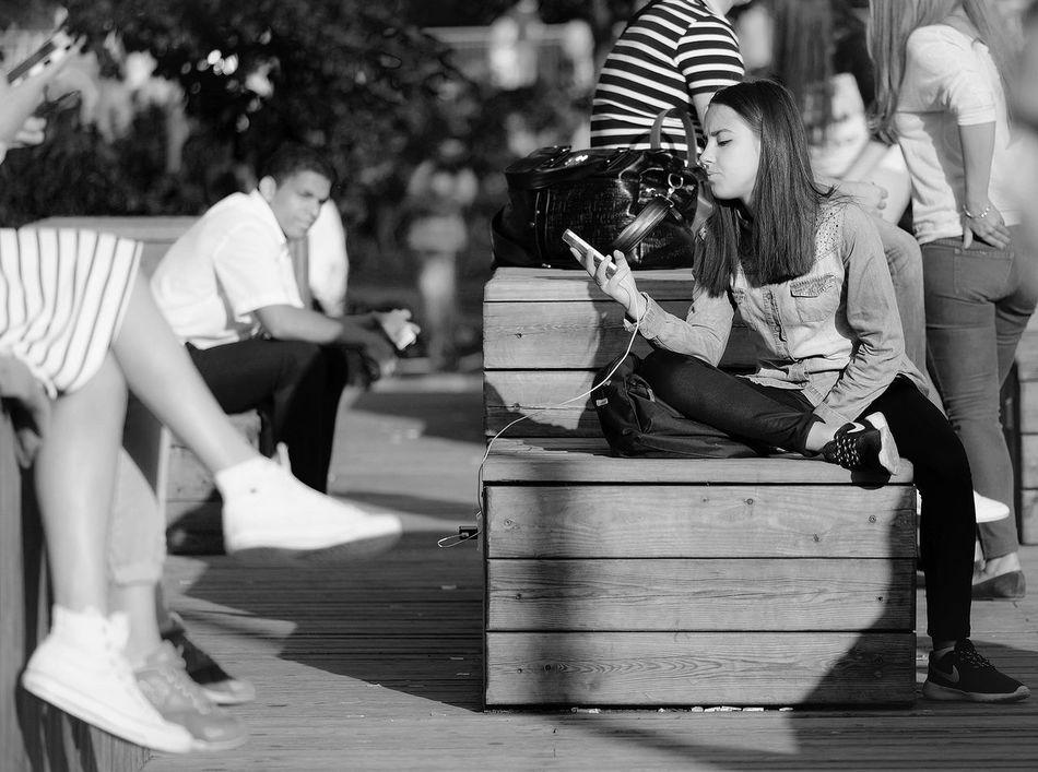 Black & White Fujifilm Streetphoto_bw Relaxing First Eyeem Photo Streetphotography Blackandwhite Black And White FUJIFILM X-T1 Street Photo Monochrome Street Photography Eye4photography