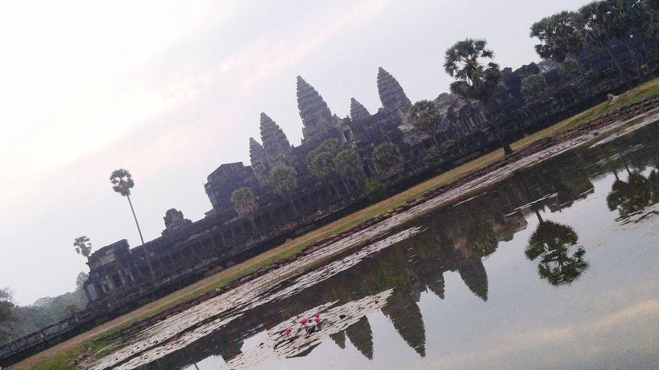 Architecture Angkorwat Angkor Wat Angkor Thom Cambodia Khmer Sunrise Sky Journey