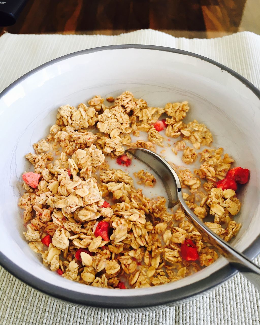 breakfast cereal, breakfast, granola, healthy eating, bowl, food and drink, food, oats - food, close-up, freshness, oat flake, corn flakes, table, fruit, meal, no people, healthy lifestyle, indoors, ready-to-eat, day