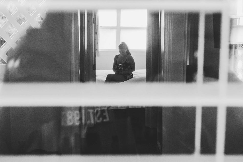 Secret Agent Full Length Real People One Person Indoors  Lifestyles Technology Window Leisure Activity Photography Themes Blackandwhite Wireless Technology Sitting Women Adult Black And White Black & White Spying Candid Voyerism