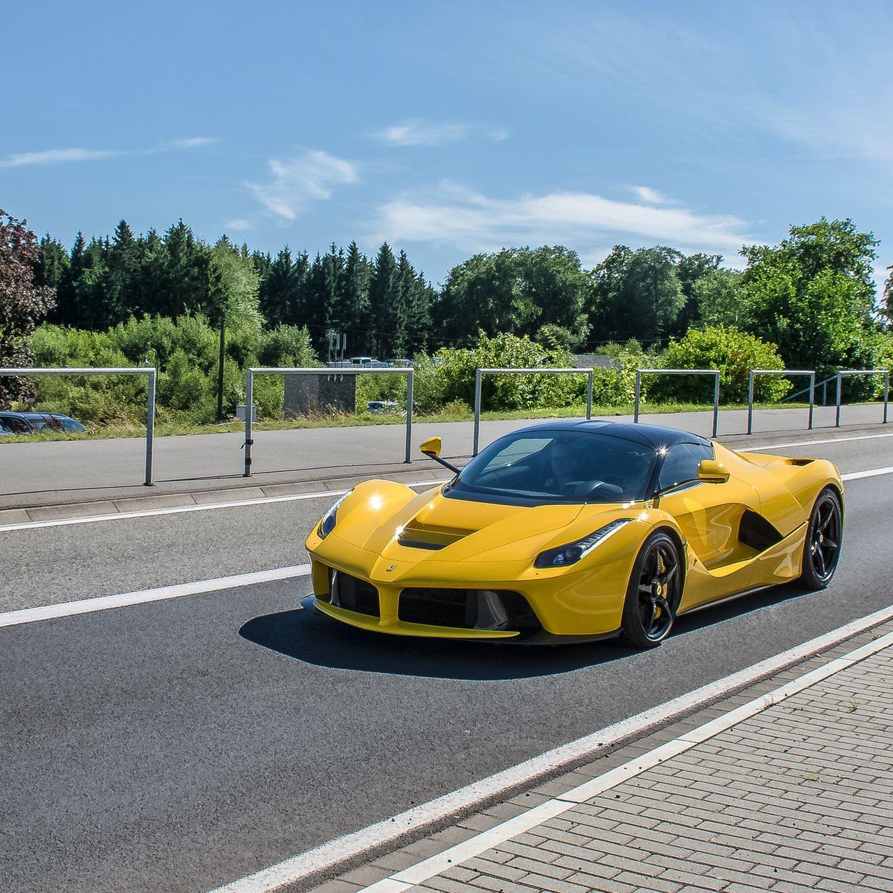 Ferrari Laferrari in Nürburgring Ferrari Yellow LaFerrari Nurburgring Car Germany Photography Blacklist