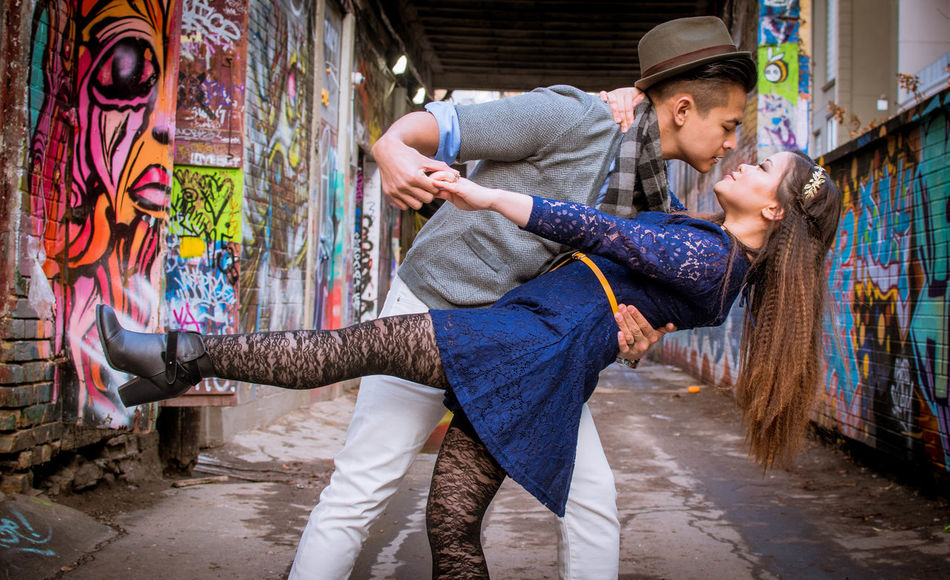 Love is in the air Multi Colored Lifestyles Adults Only Two People Togetherness Adult Young Adult Outdoors Happiness Smiling Toronto Travel Destinations Cityscape Architecture Tiffphotography Beautiful People Adult Streetphotography EyeEmToronto Torontophotography Eye4photography  Creativity City Life Graffittialley Street