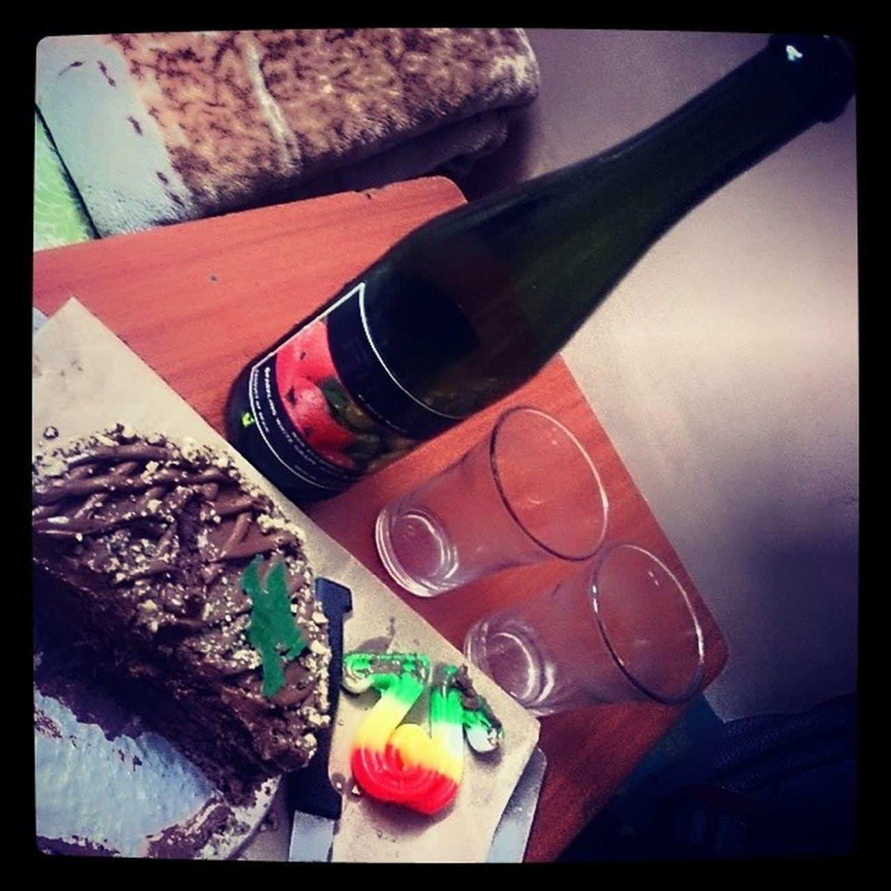 Celebrating best buddies bday Friends Fun Love Like Party Tonite Cake Drinks Nonalcoholic Wine Dinner