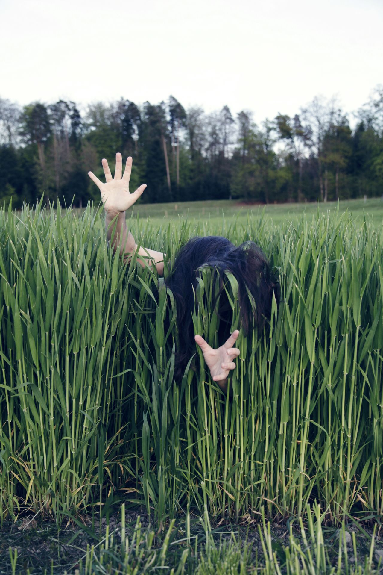 Grass Field Human Hand Hair Long Hair Green Color Grass Rare View People Expression Perspective Hands Hands Up Outdoors Nature Creative Break The Mold TCPM Art Is Everywhere The Portraitist - 2017 EyeEm Awards BYOPaper! Live For The Story