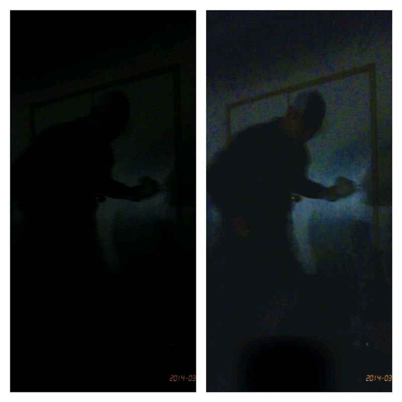 Low light photography; left side before edit; right side after edit Taking Photos Light And Shadow At The Movie Candid Sneak Shot