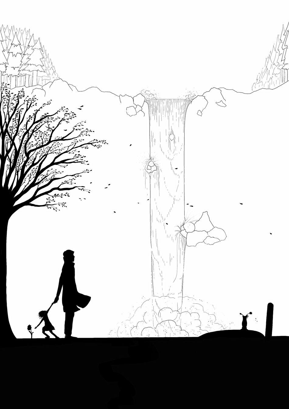 Drawing Draw Drawings Drawing ✏ Drawingtime Draw By Me My Draw My Drawing My Drawings My Draw ♥ Ipad Ipad Pro Silhouette Sketch Tree People Outdoors Day Nature Digital Art Digital Blackandwhite Black And White Black & White Silhouette