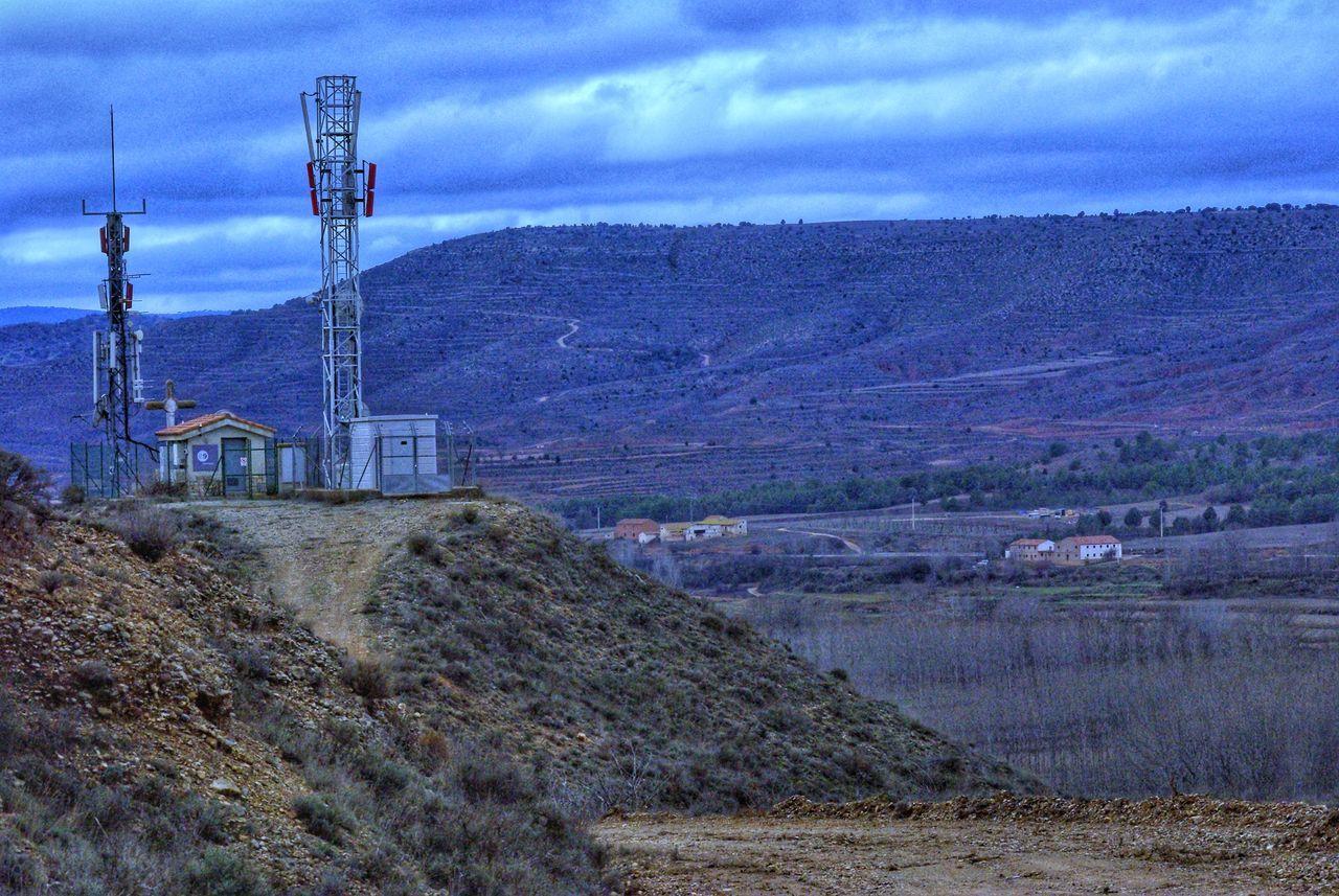 Sky Cloud - Sky Nature Outdoors No People Day Photografree Tranquility Horizonte Village View Pueblos De España España Aragón