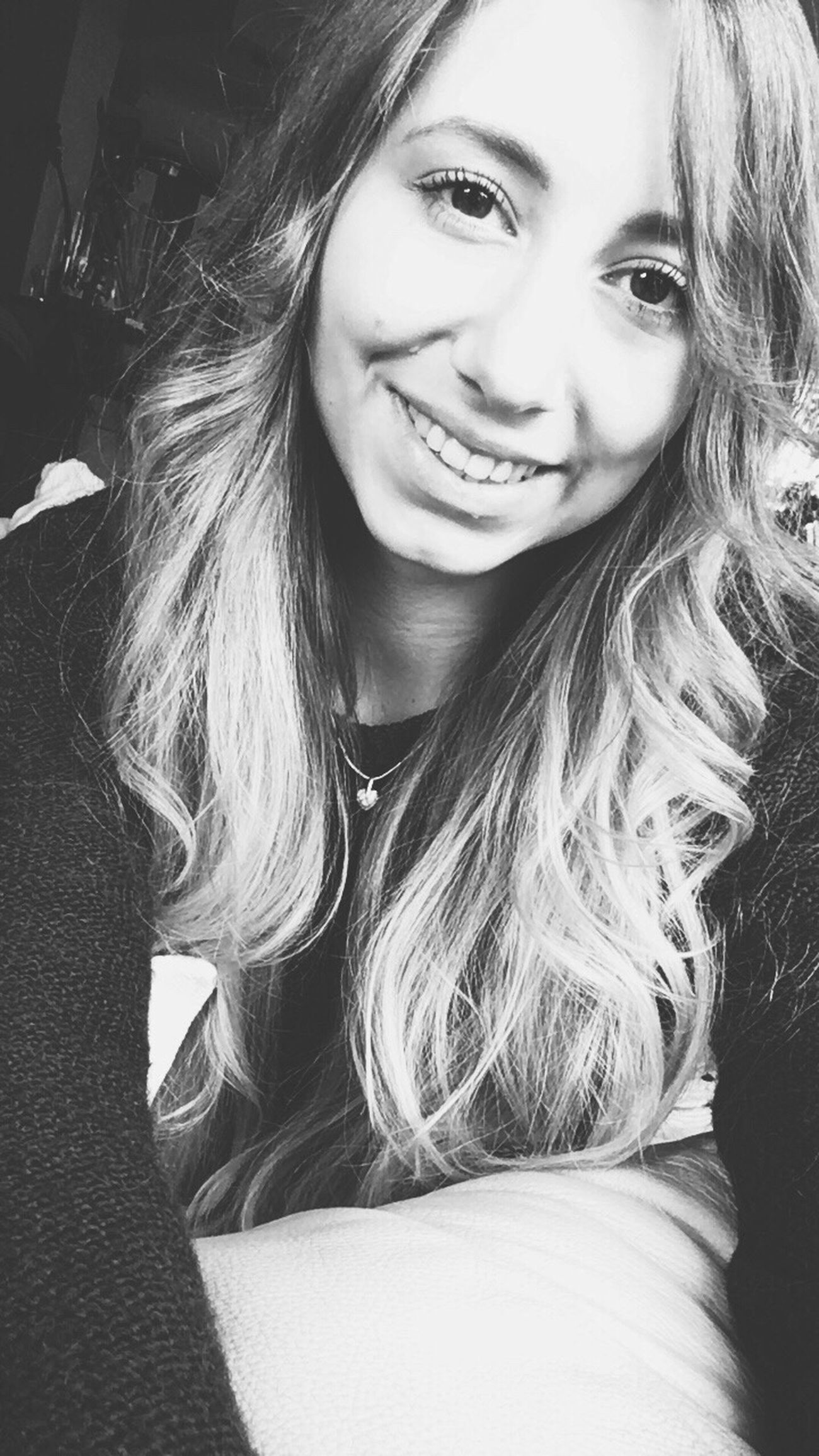 Self Portrait Selfie ✌ Selfie Girl Smile Blackandwhite Black And White Hanging Out Bored Selfportrait