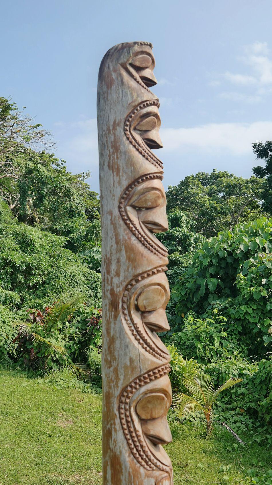 Miles Away Vanuatu Green Color Sky Tree No People Outdoors Sculpture Day Nature Extinct Südsee EyeEm Traveling