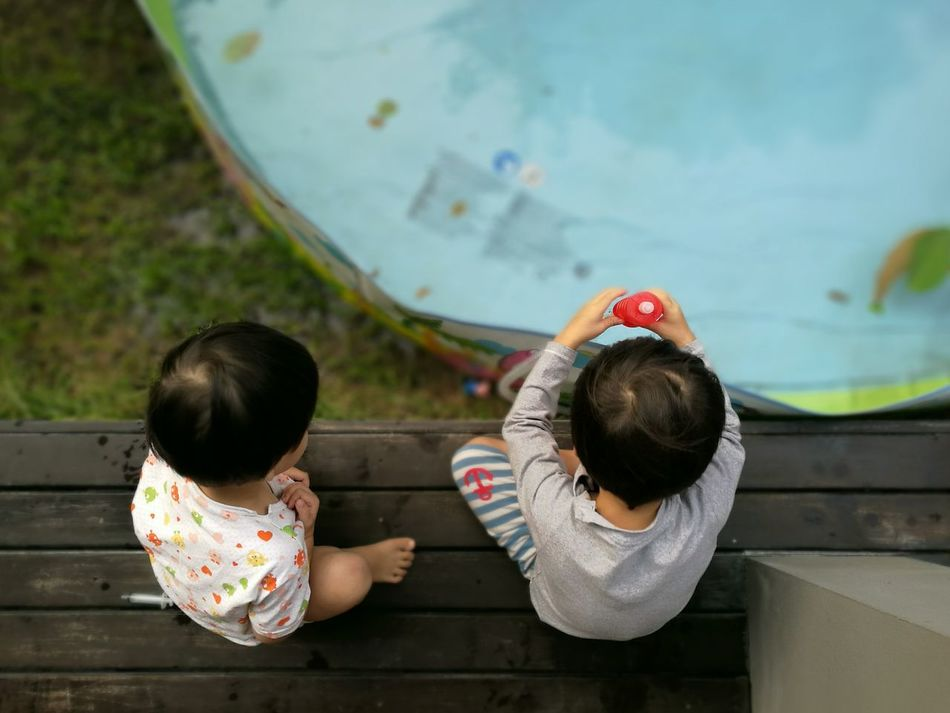 Beautiful stock photos of life, two people, child, leisure activity, rear view