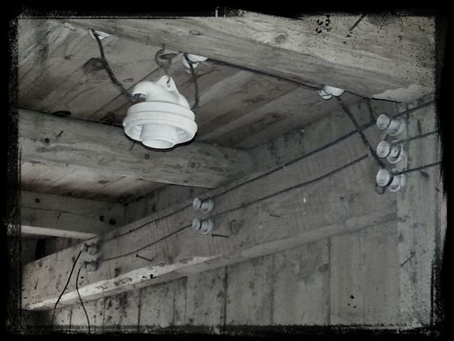 The old electric cables in our shed. Hello World Architecture Interior Design Hanging Out
