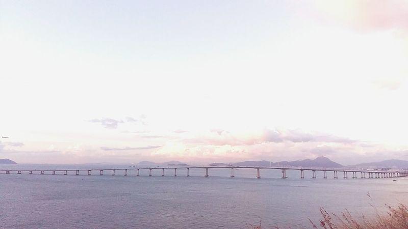 Tranquility Beauty In Nature Nature Landscape Sky Sea Sunset Water Architecture City Bridge - Tai O 大澳 HongKong