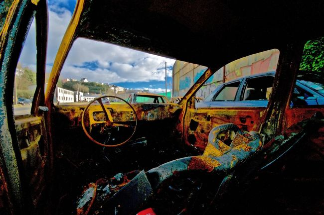 damaged car Car Damaged Car Damaged Vehicul Destroyed Rusty Autos Decay Urban Decay Your Design Story
