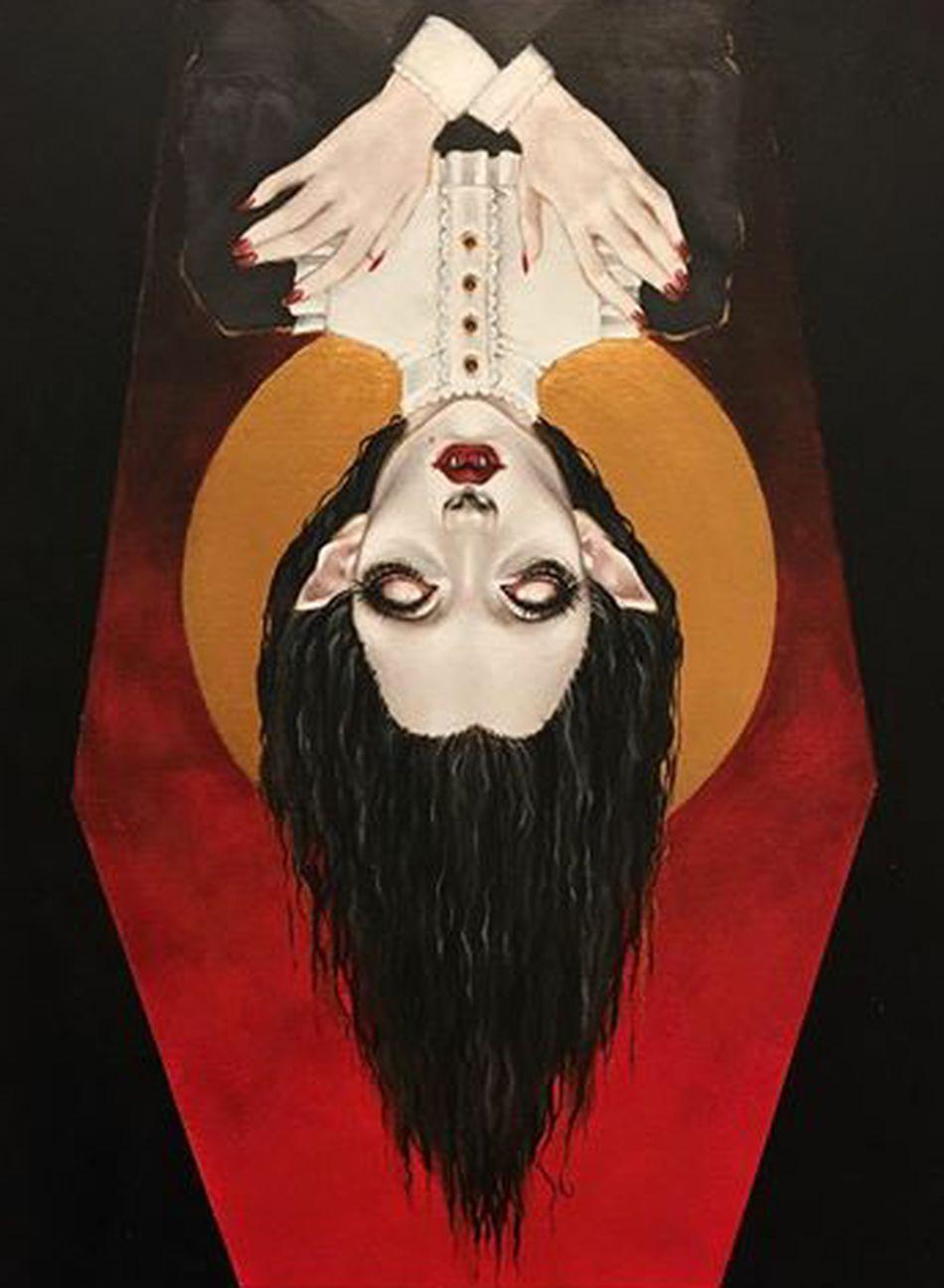 Vampire Vampires Painting Horror Portrait Paitings Vampiregirl Finishedwork MyArt Mypainting Mypaint Paintwork Macabre Art