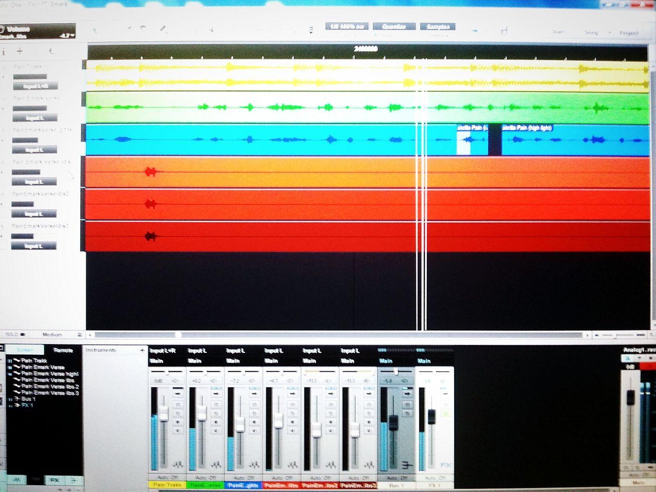 Music Vocals In The Studio Recording Session Working Hard My Album New Album