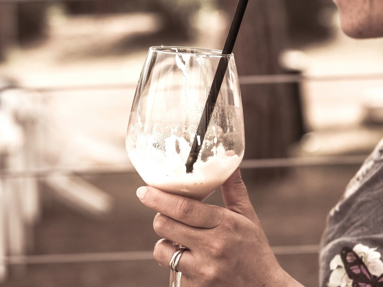 Holding Focus On Foreground Human Body Part Human Hand Close-up One Person Hanging Adults Only Outdoors Real People People Adult Day Drinking Drinking Glass