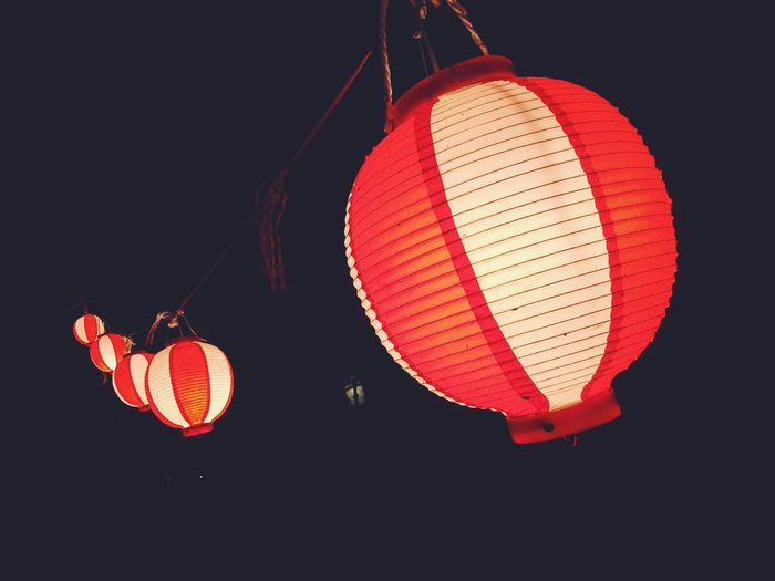 Japan Japanese  Culture Japanese Culture Japanese Style Festival Summer Light Light And Shadow Lighting Equipment Light In The Darkness Night Nightphotography Night View Nightshot 日本 ちょうちん Countryside Nice Love Black Paper Lantern Red Close-up Lantern