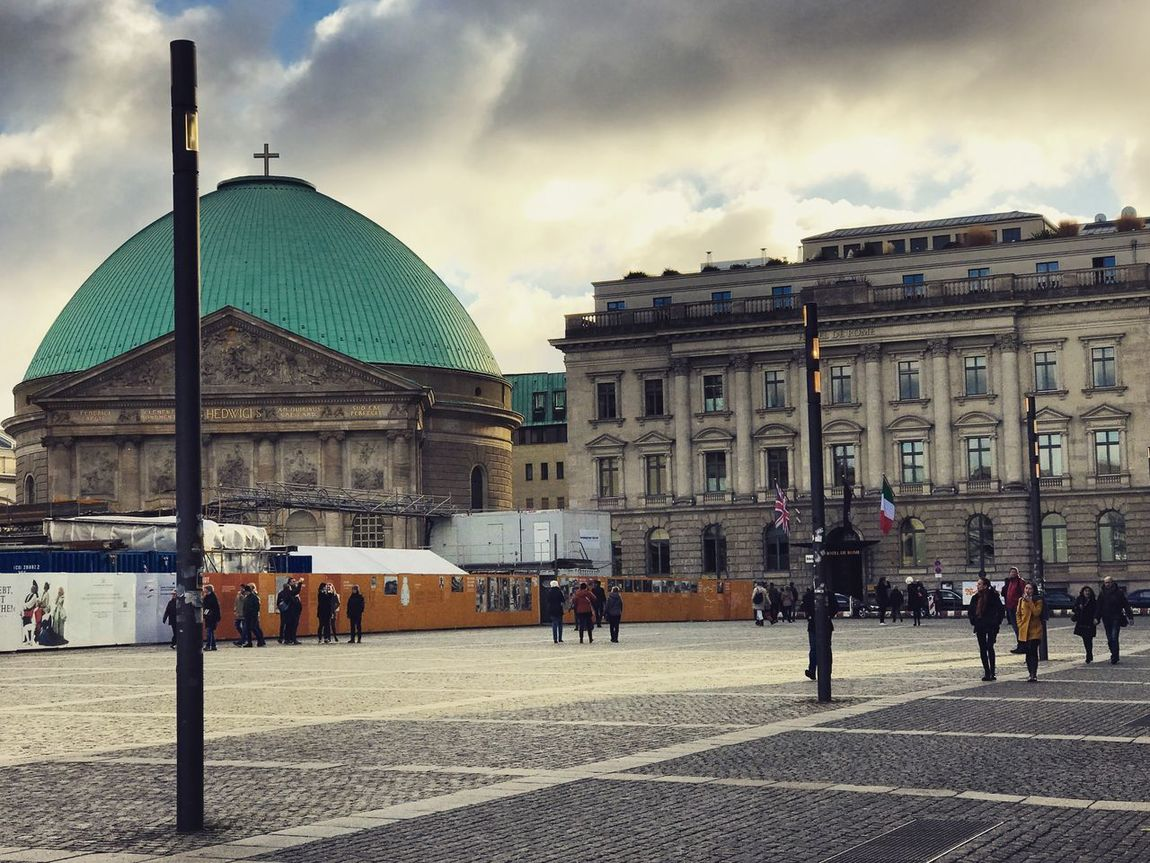 Architecture Building Exterior Travel Destinations Sky Built Structure Large Group Of People Cloud - Sky Travel City Dome Tourism City Life Façade Outdoors Real People Women Men Day People Adult Berlin Berlin Photography Bebelplatz Architecture_collection Architecture